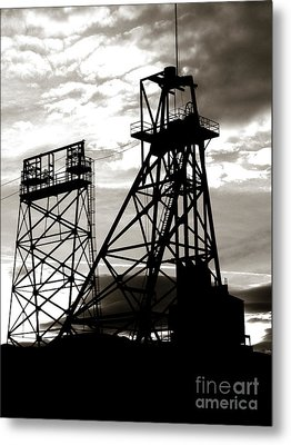 Butte Montana Headframe Metal Print by David Bearden