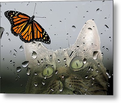 Butterflies Are Free Metal Print by I'ina Van Lawick
