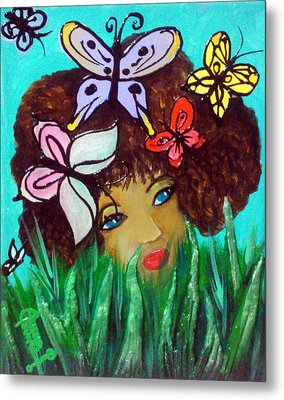 Butterflies At Play Metal Print by Ohso Faboolus