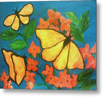 Butterflies Metal Print by Christy Saunders Church
