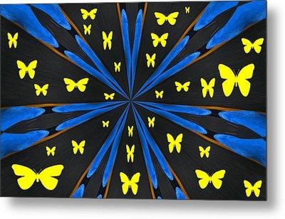Butterflies Galore Metal Print by Karol Livote