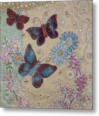 Butterflies Metal Print by Hazel Millington