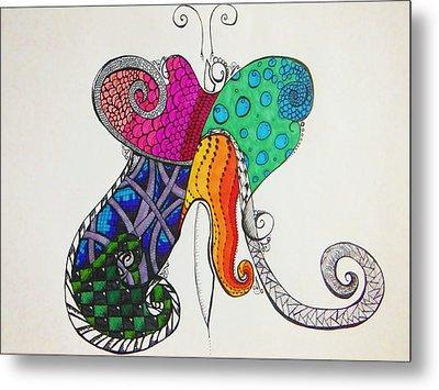 Butterflies Metal Print by Lori Thompson