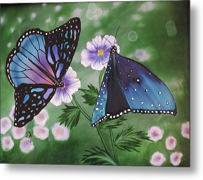 Metal Print featuring the painting Butterfly #2 by Dianna Lewis