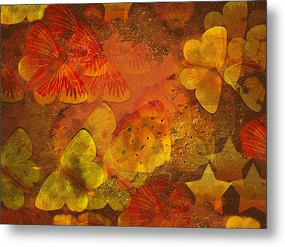 Butterfly Abstract 2 Metal Print by David Dehner