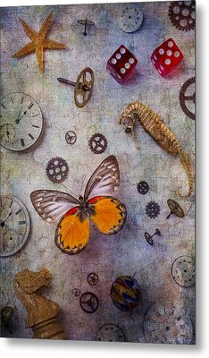 Butterfly And Seahorse Metal Print by Garry Gay