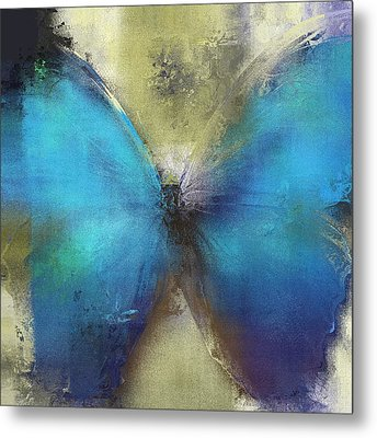Butterfly Art - Ab0101a Metal Print by Variance Collections