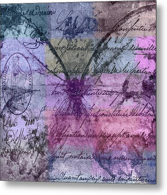 Butterfly Art - Ab25a Metal Print by Variance Collections