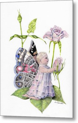 Butterfly Baby Metal Print by Laurianna Taylor