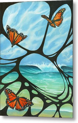 Butterfly Beach Metal Print