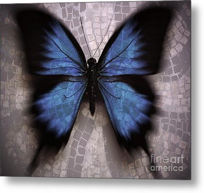Butterfly Becomes The Mosaic  Metal Print by Elizabeth McTaggart