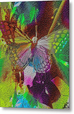 Butterfly By Nico Bielow Metal Print by Nico Bielow