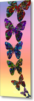 Metal Print featuring the photograph Butterfly Collage IIII by Robert Meanor