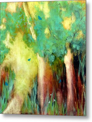 Metal Print featuring the painting Butterfly Days by Katie Black