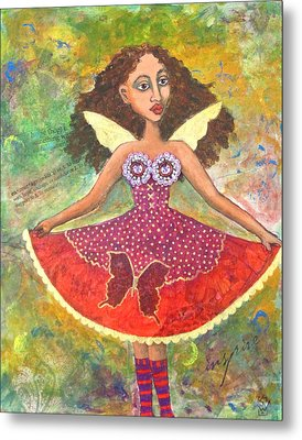 Butterfly Dress Metal Print by Sharon Woodward