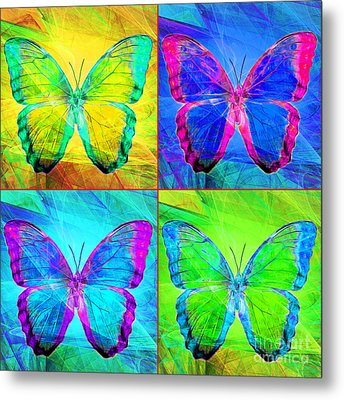 Butterfly Dsc2969 Four Square Metal Print by Wingsdomain Art and Photography