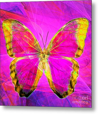 Butterfly Dsc2969p120 Square Metal Print by Wingsdomain Art and Photography