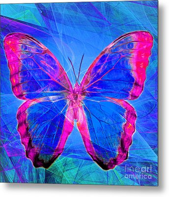 Butterfly Dsc2969p32 Square Metal Print by Wingsdomain Art and Photography