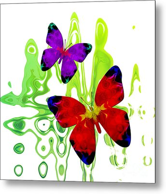 Butterfly Duet - Harmony Metal Print