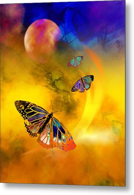 Butterfly Expansion Metal Print by Bruce Manaka