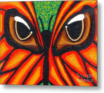 Butterfly Eyes Metal Print by Genevieve Esson