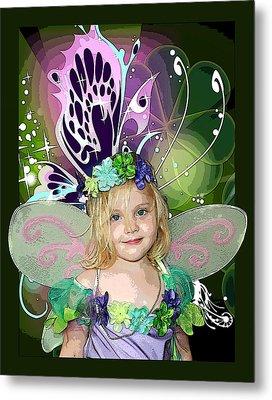Butterfly Fairy Metal Print by Ellen Henneke