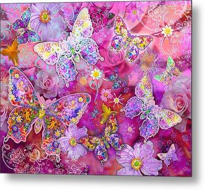 Butterfly Flower Land Metal Print