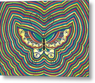 Metal Print featuring the painting Butterfly Flutter by Susie Weber