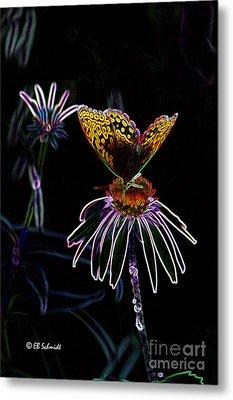 Butterfly Garden 03 - Great Spangled Fritillary Metal Print by E B Schmidt