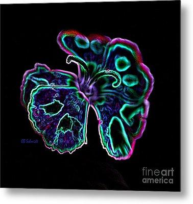 Metal Print featuring the digital art Butterfly Garden 18 - Carnation by E B Schmidt