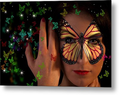 Butterfly Girl Metal Print by Nathan Wright