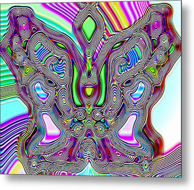 Butterfly Groove Metal Print by Susan Kinney
