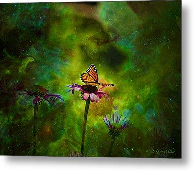 Butterfly In An Ethereal World Metal Print by J Larry Walker