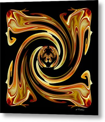 Butterfly In The Center Metal Print by rd Erickson