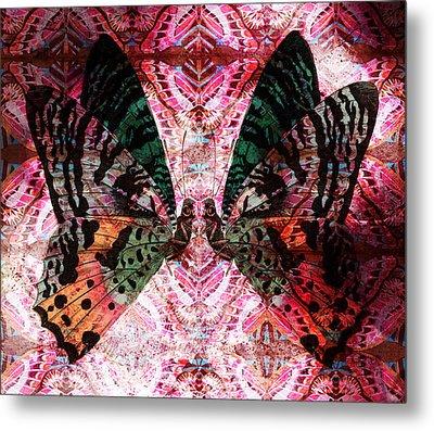 Metal Print featuring the digital art Butterfly Kaleidoscope by Kyle Hanson