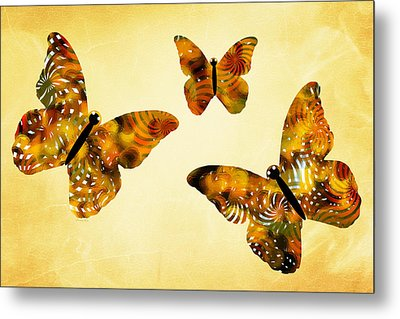 Butterfly Kisses Metal Print
