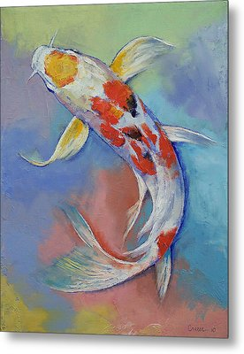 Butterfly Koi Fish Metal Print