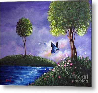 Butterfly Lake By Shawna Erback Metal Print by Shawna Erback