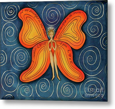 Butterfly Mantra Metal Print