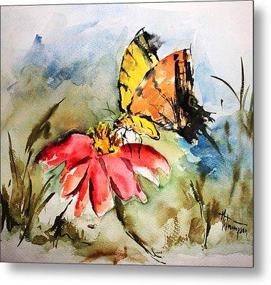 Butterfly   Metal Print by Mary Spyridon Thompson