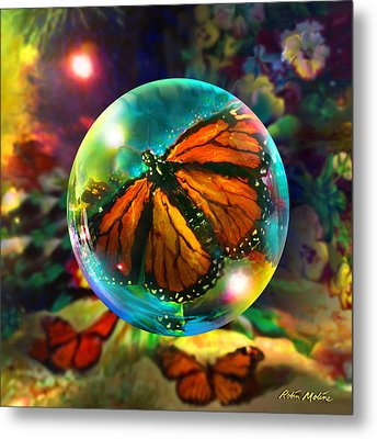 Butterfly Monarchy Metal Print by Robin Moline