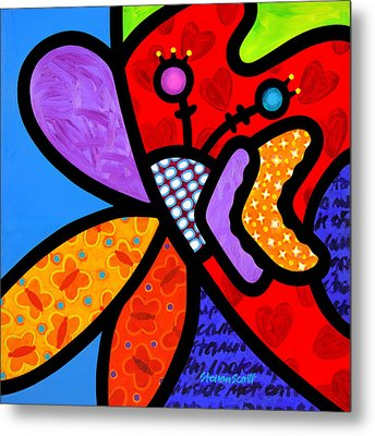 Butterfly Orchid Metal Print