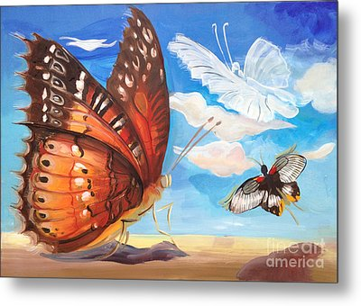 Butterfly Paysage 2 Metal Print