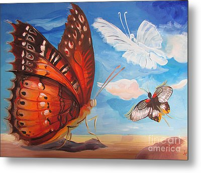 Butterfly Paysage 5 Metal Print