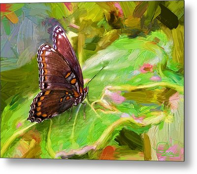 Butterfly - Red-spotted Purple Metal Print