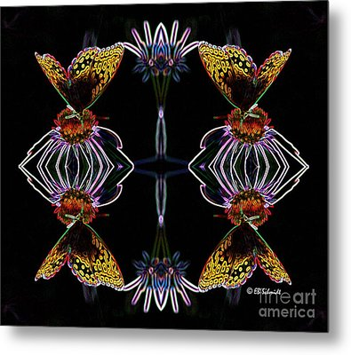 Butterfly Reflections 10  - Great Spangled Fritillary Metal Print by E B Schmidt