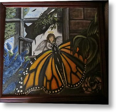 Butterfly Reflections Metal Print by Diane Mitchell