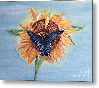 Butterfly Sunday In The Summer Metal Print by Kimberlee Baxter