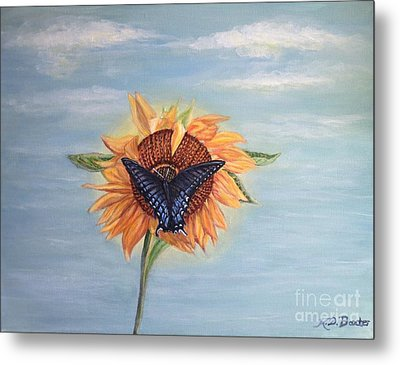 Butterfly Sunday Full Length Version Metal Print by Kimberlee Baxter