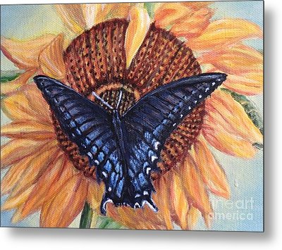 Butterfly Sunday Up-close Metal Print by Kimberlee Baxter